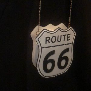 Handbags - NEW ROUTE 66 Purse White Gold Chain !